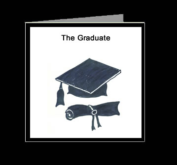 The Graduate Poem greeting cards
